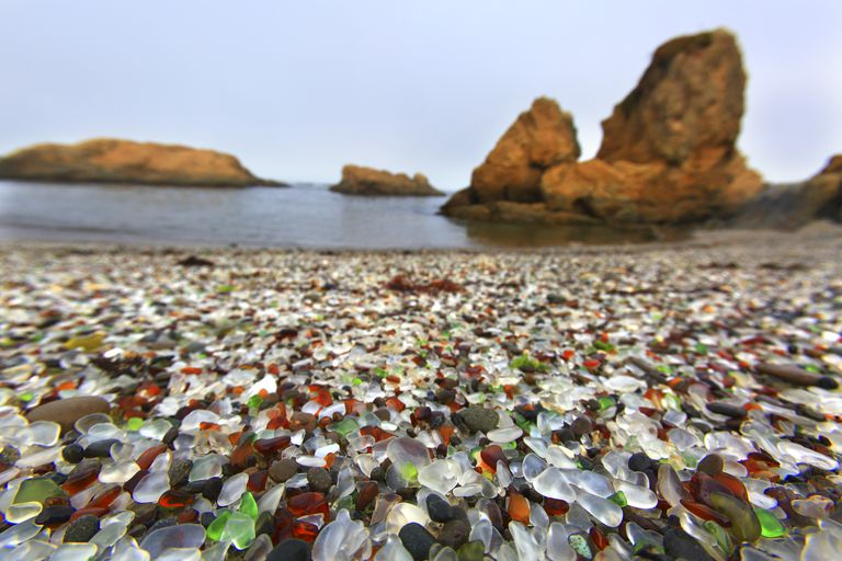 Usa, Californie, Fort Bragg. Glass Beach