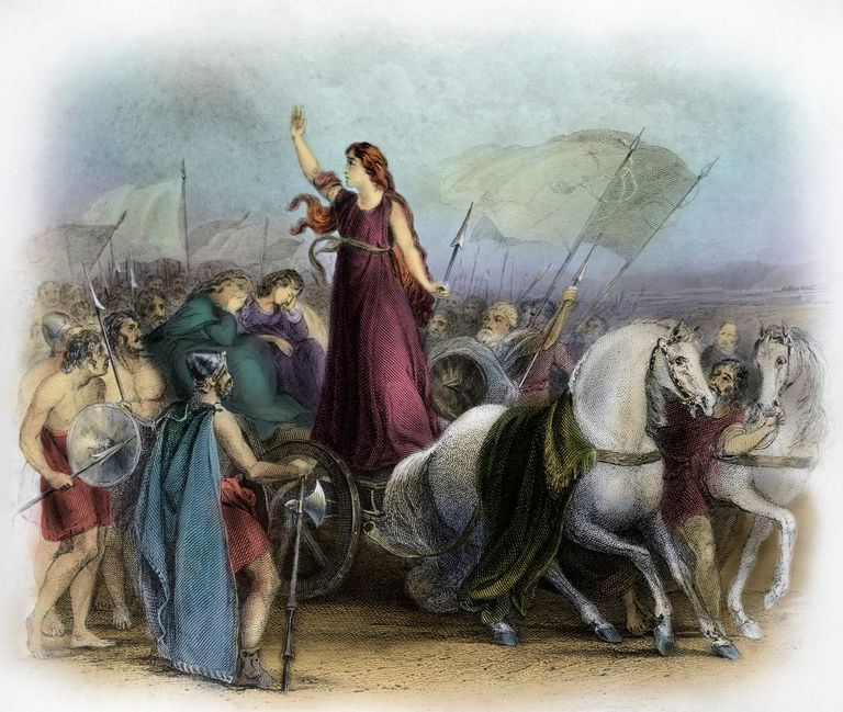 Illustration of Boadicea Haranguing the Britons