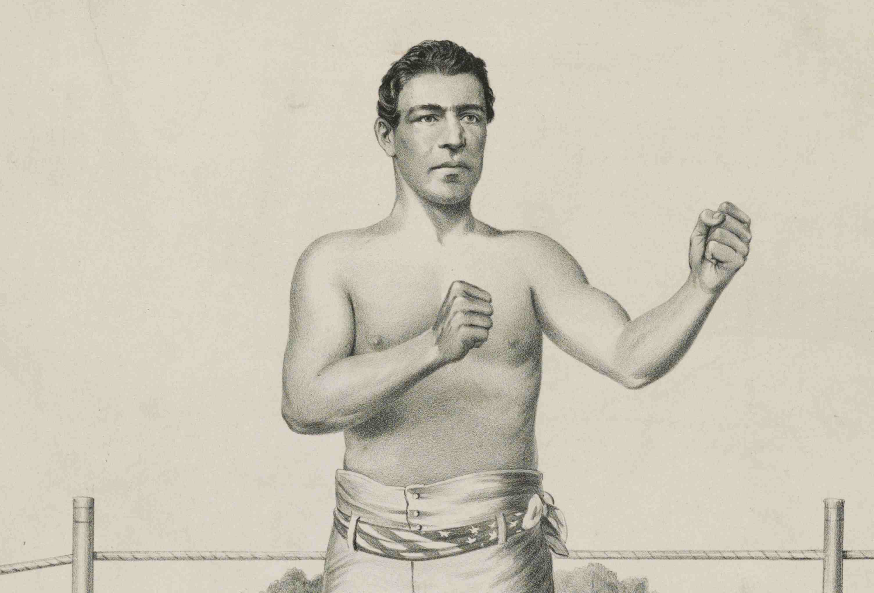 Lithograph of boxer John Morrissey