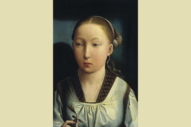 Catherine of Aragon, c. 1496, portrait by Juan de Flandes