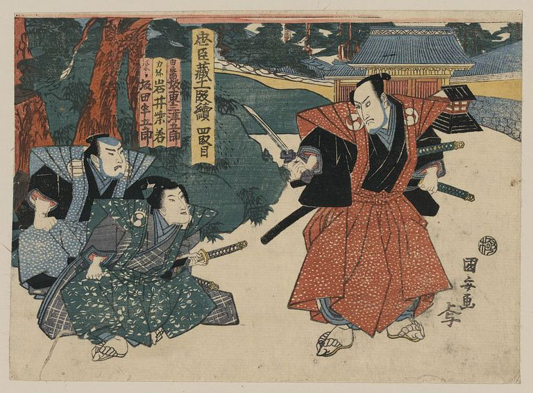 Painting of samurai by Kuniyasu Utagawa.