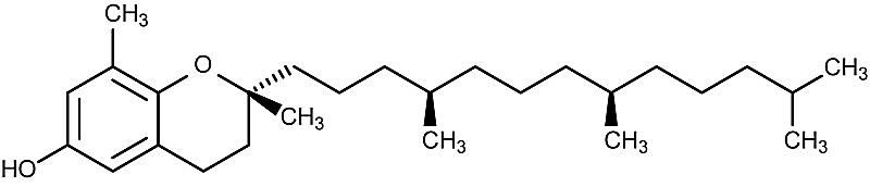 This is the chemical structure of delta-tocopherol.