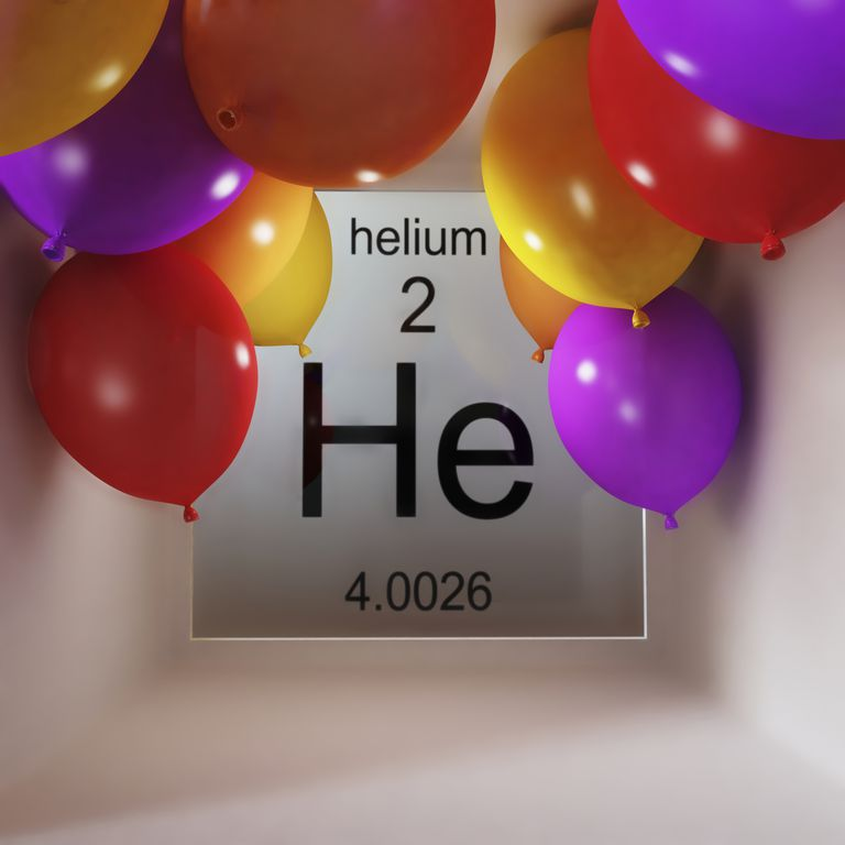 Helium is element number 2 on the periodic table.