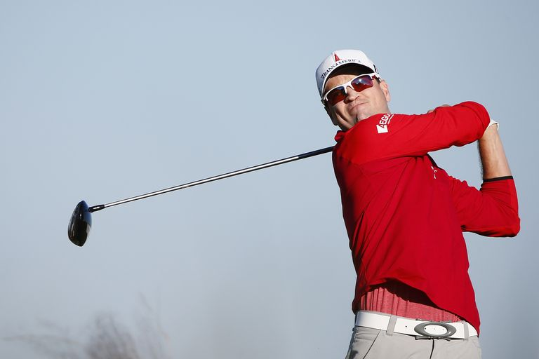 Zach Johnson during the first round of the 2014 McGladrey Classic