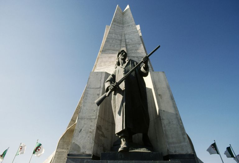 Maqam Echahid, Martyrs Memorial commemorating Algerian war for independence (1954-1962), detail, Algiers, Algeria : Stock Photo add_a_photo Comp Add to Board Maqam Echahid, Martyrs Memorial, 1982, commemorating Algerian war for independence (1954-1962)