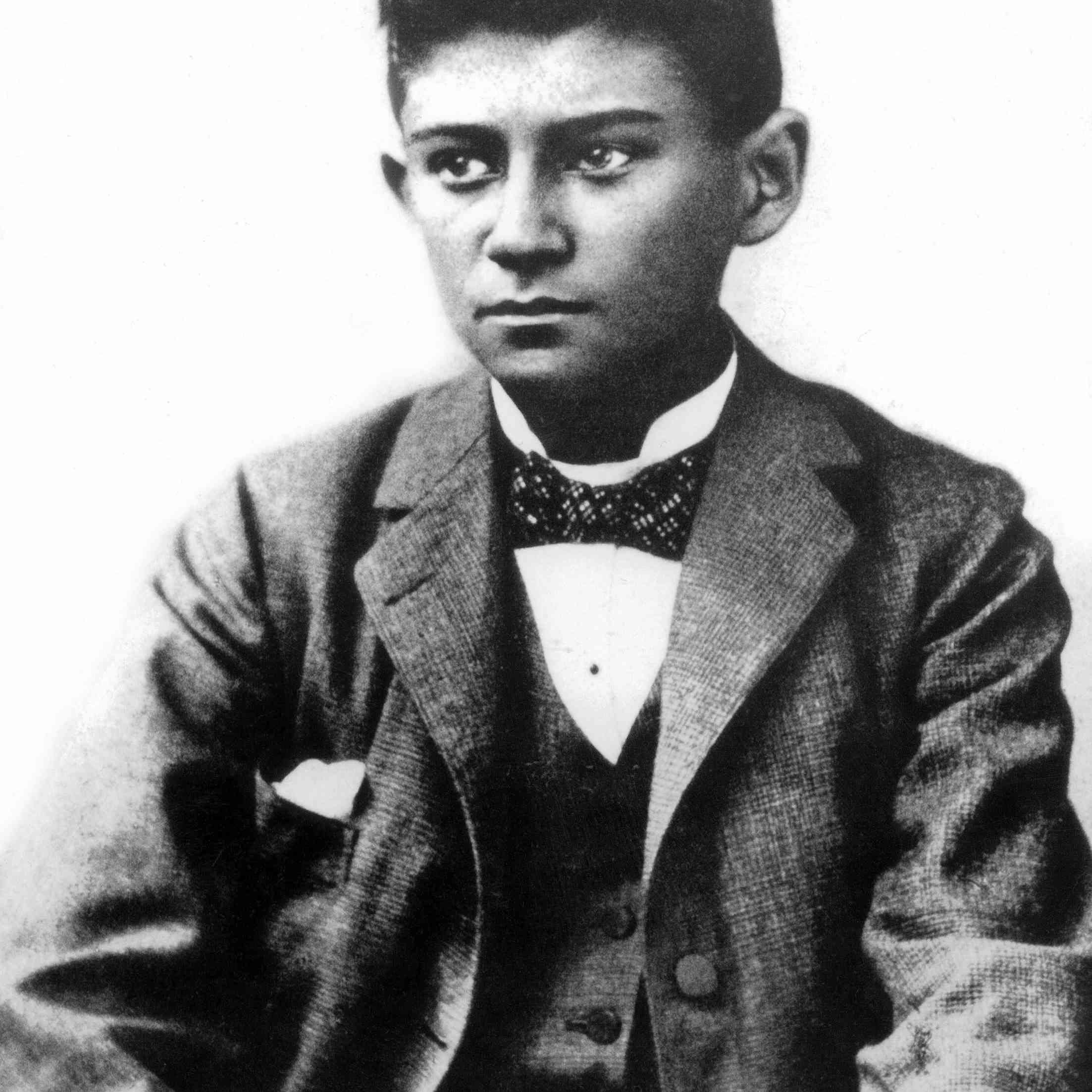 Franz Kafka (1883-1924) czech writer here young c. 1898