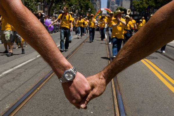 Hands Linked - 2007 San Francisco Gay Pride