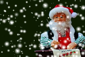 Santa writing his list