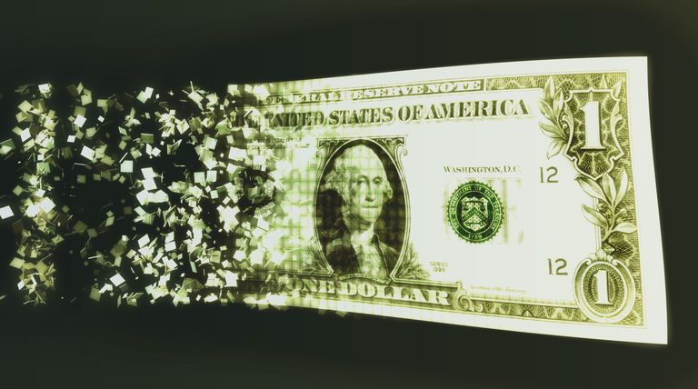 US dollar bill and binary code (Digital Composite)