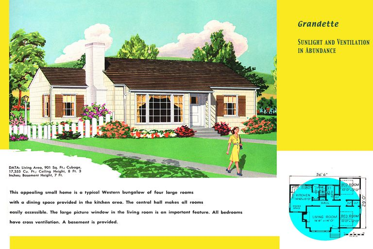 Ranch homes plans for america in the 1950s for 1950 bungalow house plans