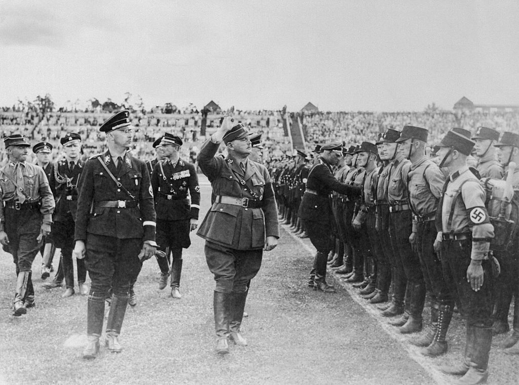 Heinrich Himmler Reviewing Troops