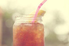 sweet tea in a jar
