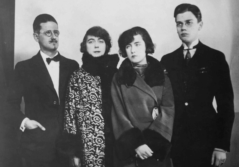 photo of James Joyce and family