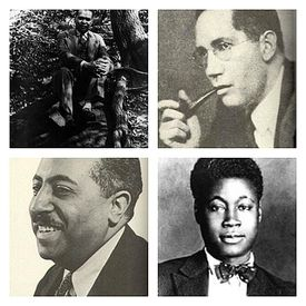 Countee Cullen, Sterling Brown, Claude McKay and Arna Bontemps