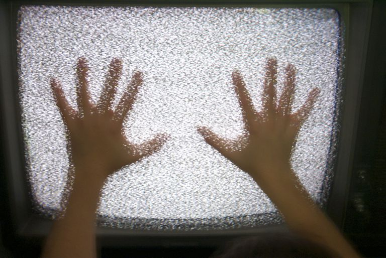 Static on a TV Screen