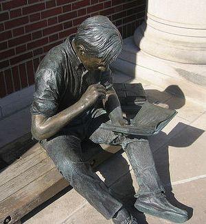 Sculpture at Coe College
