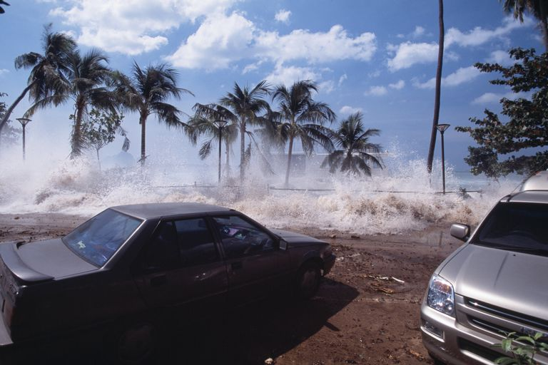 Tsunami on Ao Nang Beach, Thailand, 2004