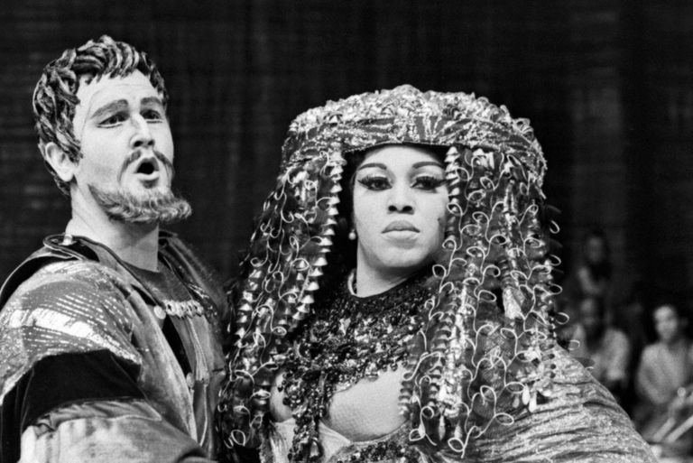 Soprano Leontyne Price in Antony and Cleopatra at the Met, 1966