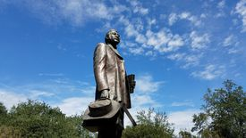 A statue of Denmark Vesey, organizer of what would have been the largest slave revolt in US history.