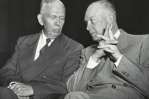 George C. Marshall and Dwight Eisenhower Conversing