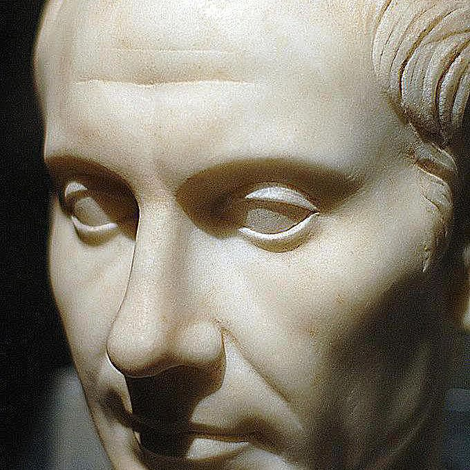 Julius Caesar. Marble, mid-first century A.D., discovery on the island of Pantelleria.