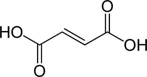 This is the chemical structure of fumaric acid.