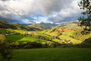 A beautiful day for this amazing view across the Pyrenees Mountain Ranges