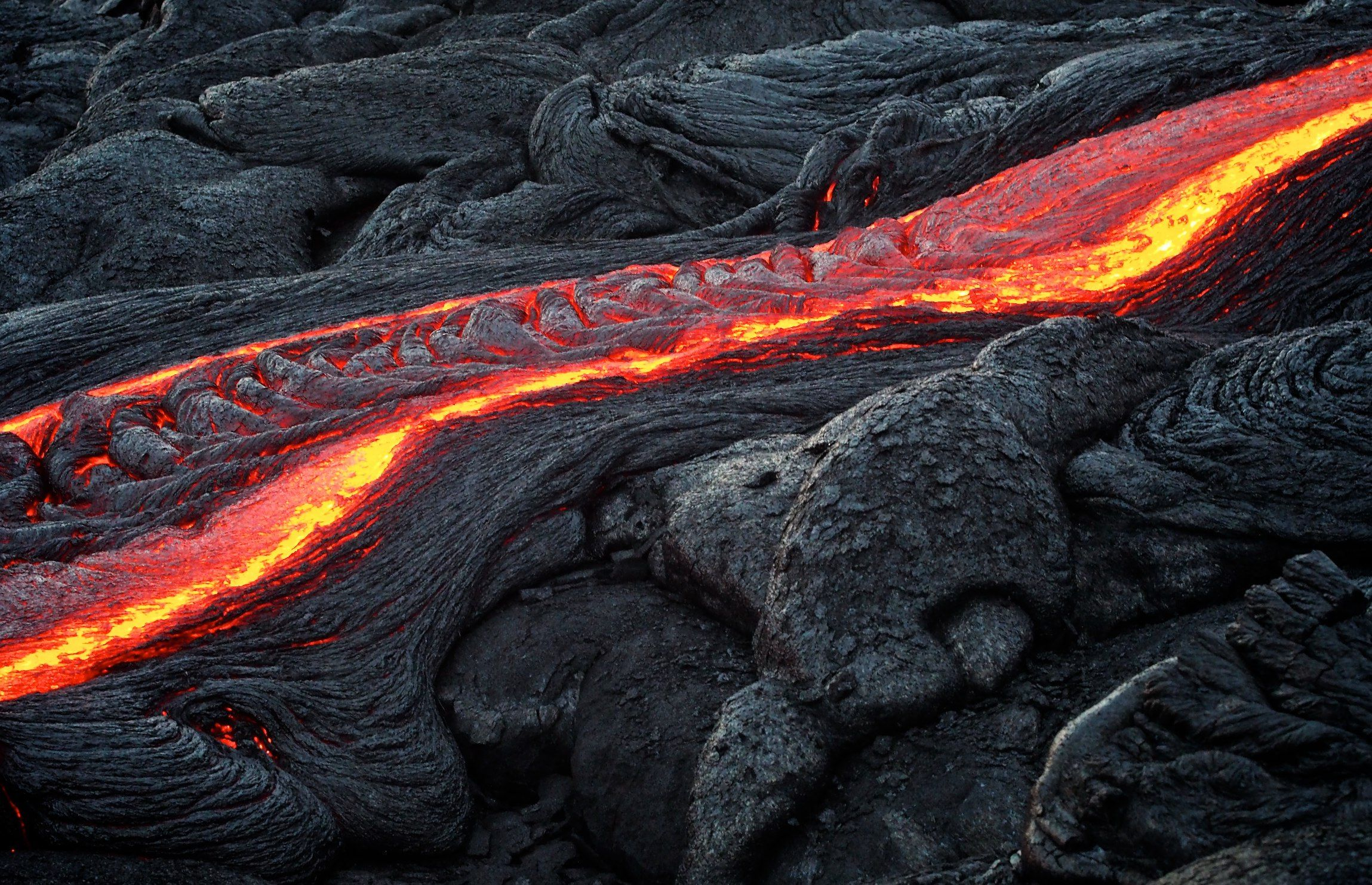 Lava ripples, Hawaii