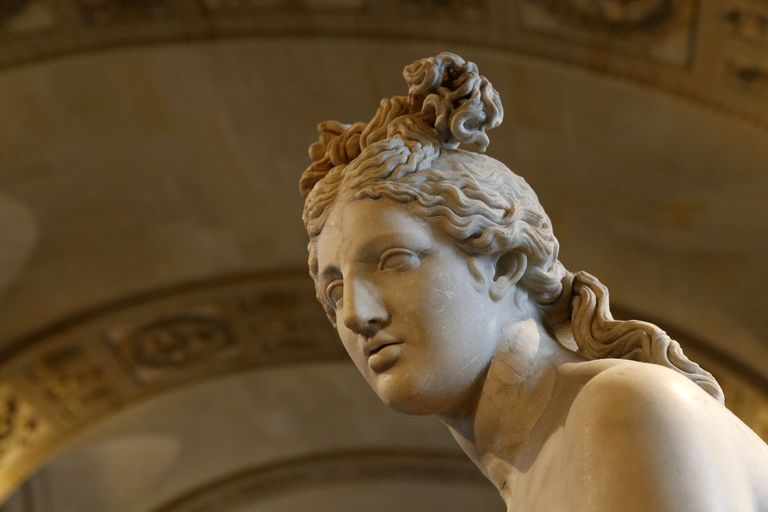 Aphrodite sculpture at the Louvre Museum