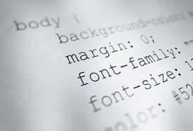 An example of CSS code