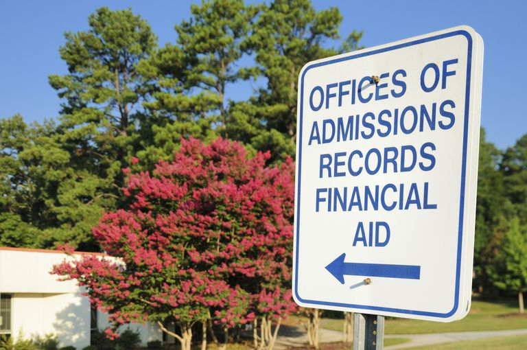 sign for the offices of admissions, records, and financial aid