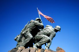 Iwo Jima War Memorial located just outside of the Arlington National Cemetery