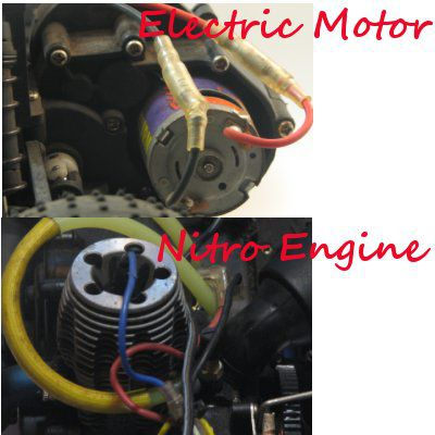 Electric Motor And Nitro Engine On Rc
