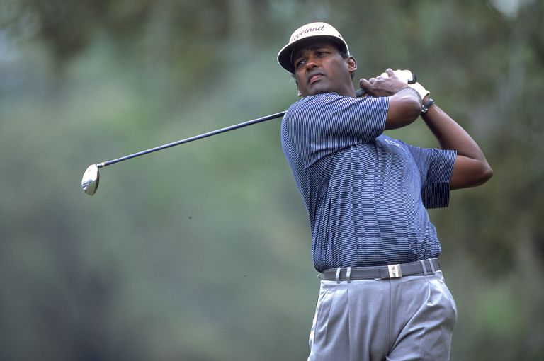 Golfer Vijay Singh photographed in 2001