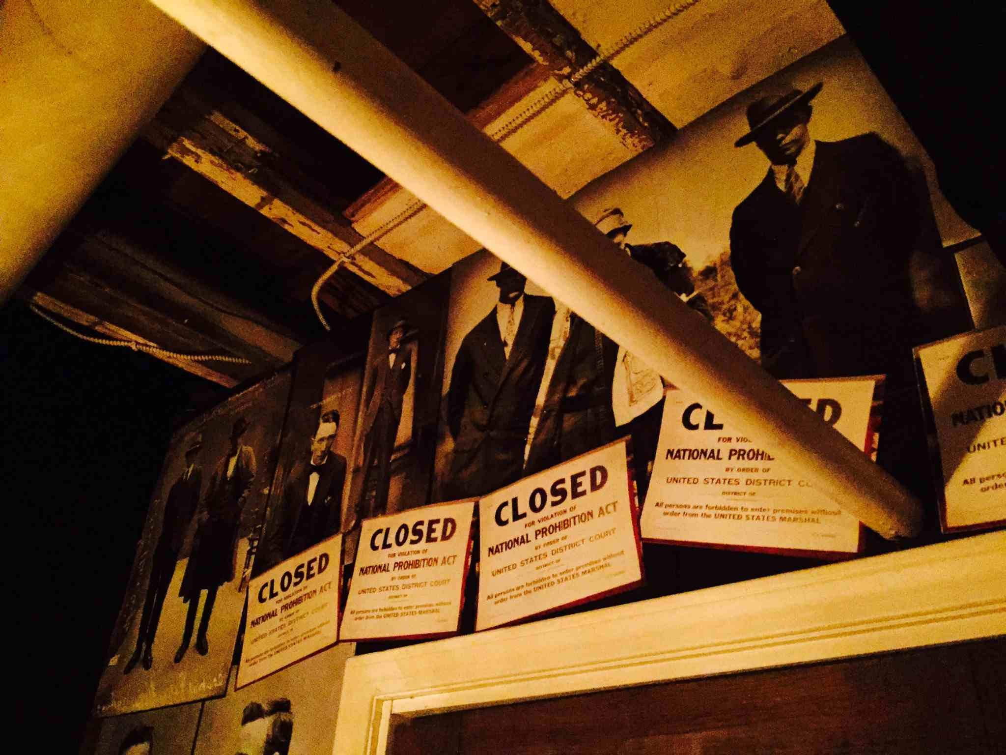 Speakeasy Signs at Maxwell Mansion
