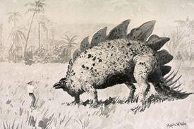 An illustration from the 1st edition of The Lost World