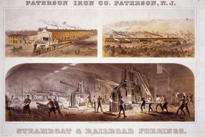 team hammers at the Paterson Iron Company