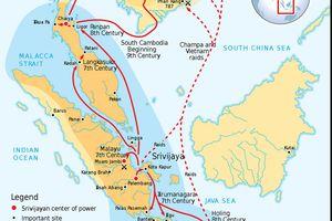 The Srivijaya Empire in Indonesia