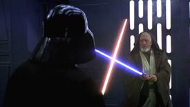 Obi-Wan Kenobi and Darth Vader fight