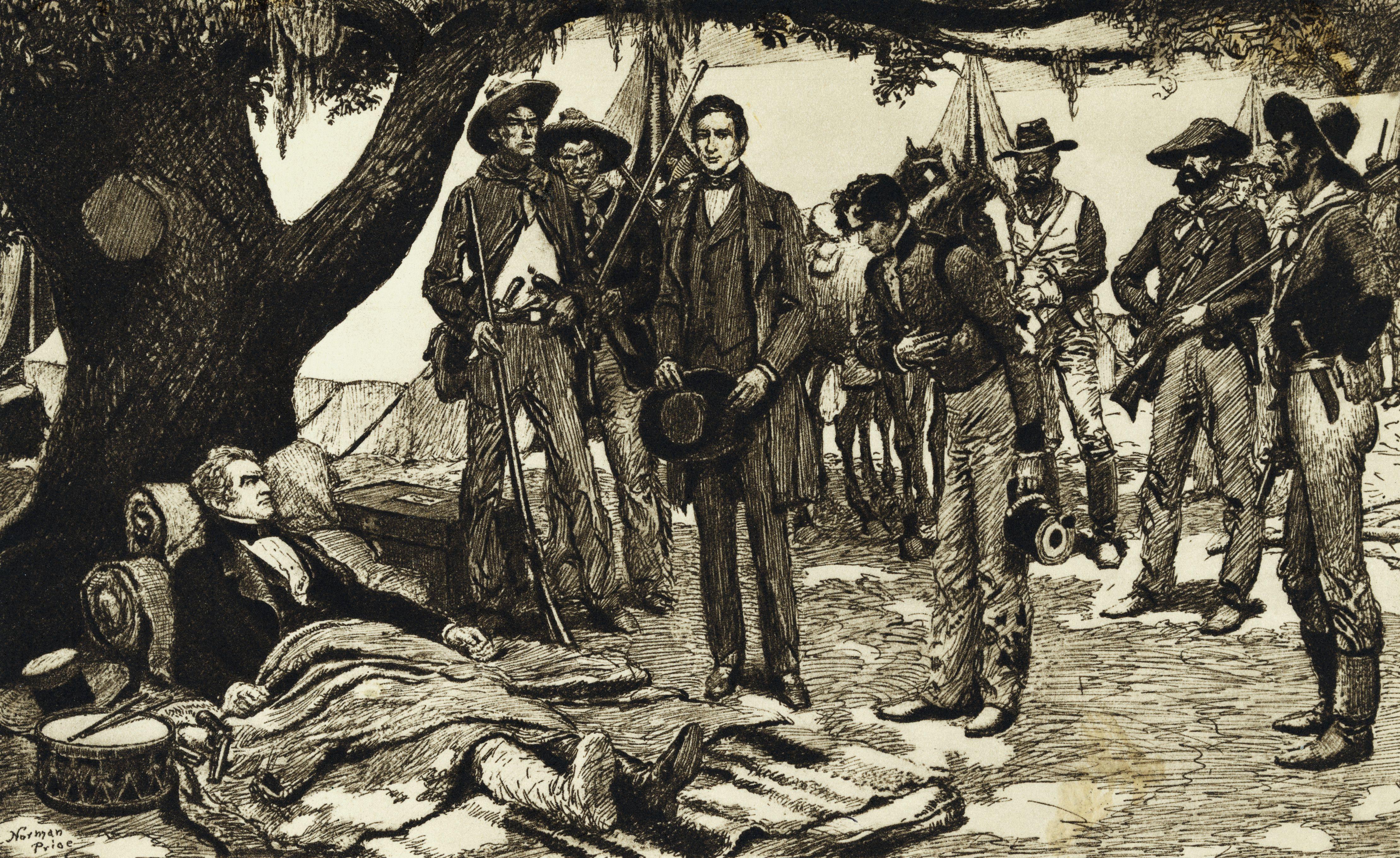 Santa Anna Being Presented to Sam Houston