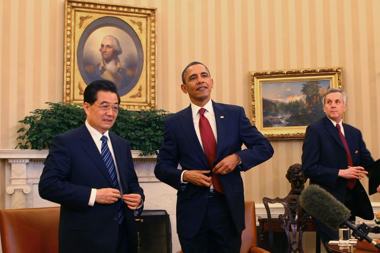 Obama Hosts Chinese President Hu Jintao
