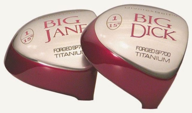 Big Dick and Big Jane drivers by Divnick Golf