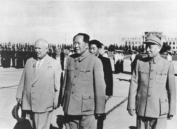 Nikita Khrushchev and Mao Zedong