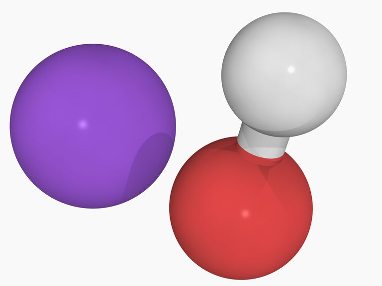 3D illustration of sodium hydroxide.