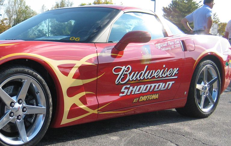 car sponsored by Budweiser Shootout