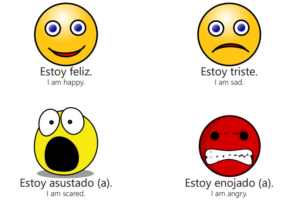Spanish feelings PDF printout