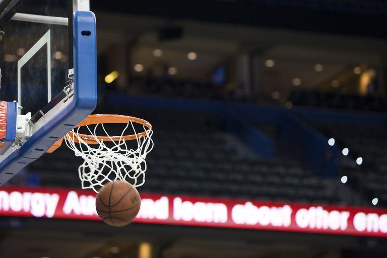 Basketball through a hoop