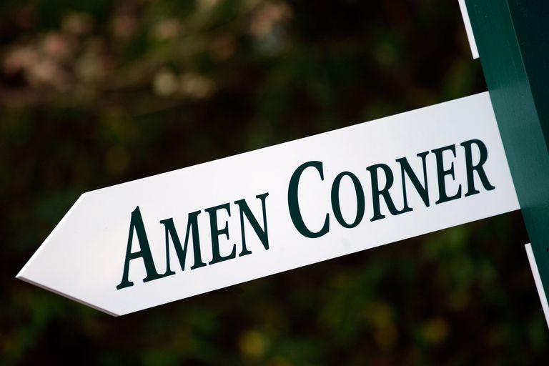 Amen Corner sign at Augusta National