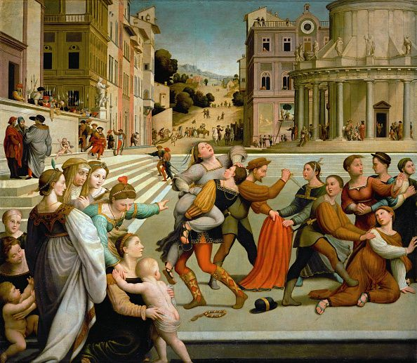 Painting of The Abduction Of Dinah