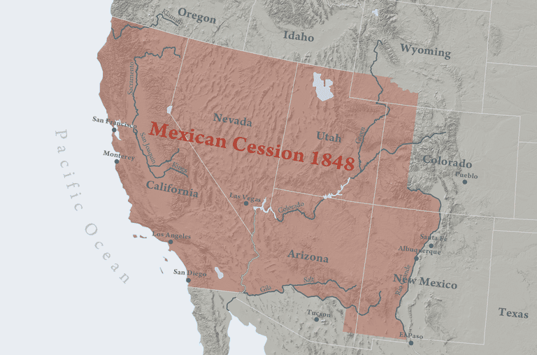 The Mexican American War - Us-map-before-mexican-american-war